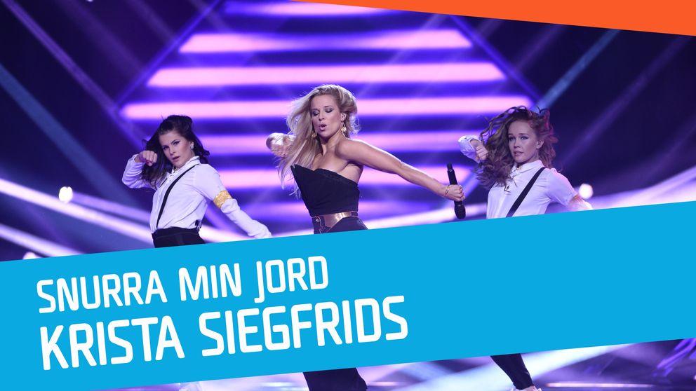 """Se Krista Siegfrids sjunga """"Snurra min jord"""" i Melodifestivalen 2017."""