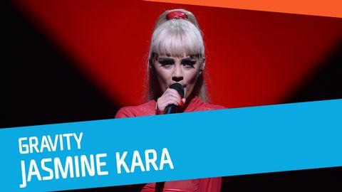 """Se Jasmine Kara sjunga """"Gravity"""" i Melodifestivalen 2017."""