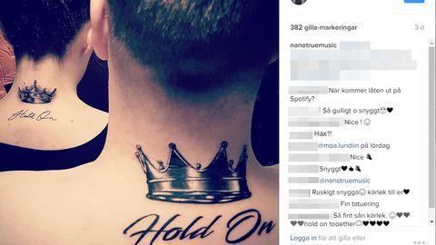 Bild på Nanos tatuering från hans Instagram