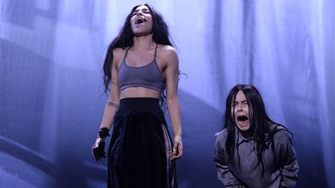 Bild på Loreen på scenrepet