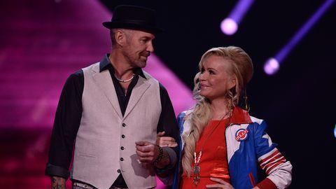 Sara Varga och Juha Mulari i Melodifestivalen 2017.