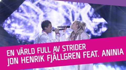 """Se Jon Henrik Fjällgren feat. Aninia sjunga """"En värld full av strider (Eatneme gusnie jeenh dåaroeh)"""" i Melodifestivalen 2017."""