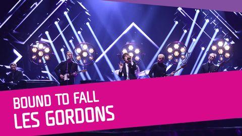 "Se Les Gordons sjunga ""Bound to Fall"" i Melodifestivalen 2017."