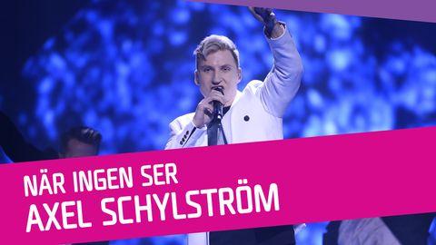 "Se Axel Schylström sjunga ""När ingen ser"" i Melodifestivalen 2017."