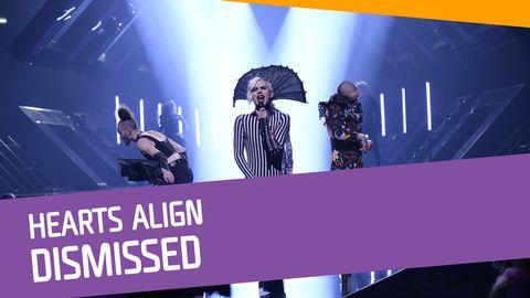 "Se Dismissed sjunga ""Hearts Align"" i Melodifestivalen 2017."