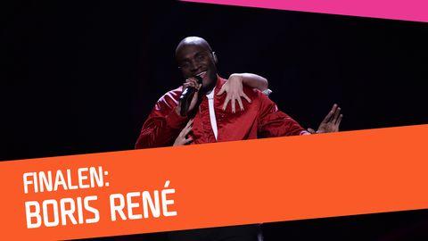 """Se Boris René sjunga """"Her Kiss"""" i Melodifestivalen 2017."""