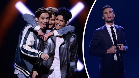 FO&O och Robin Bengtsson i Melodifestivalen 2017.
