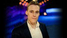 Bild på Gustav Dahlander, webbredaktören för Melodifestivalen och Eurovision 2013.