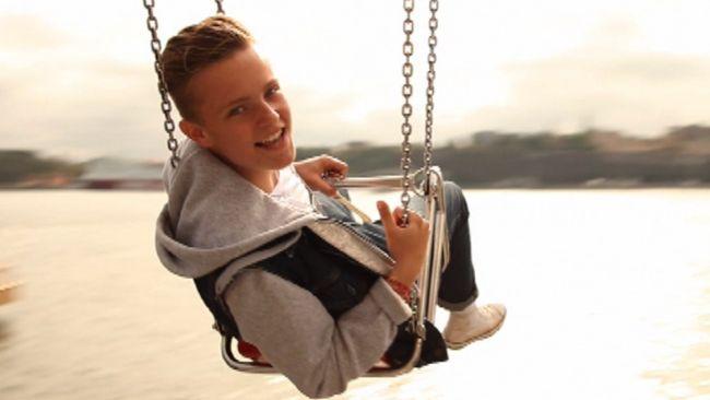 Bild på Erik Rapp, som var Sveriges representant i Junior Eurovision Song Contest 2011 med låten