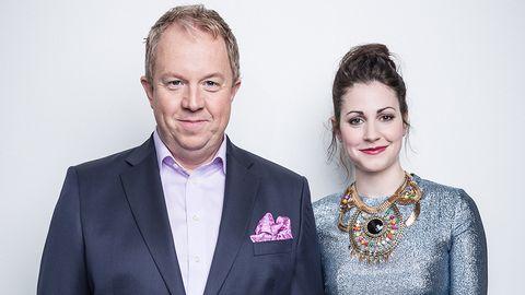 Anders Jansson och Nour El Refai är programledare för Melodifestivalen 2014.