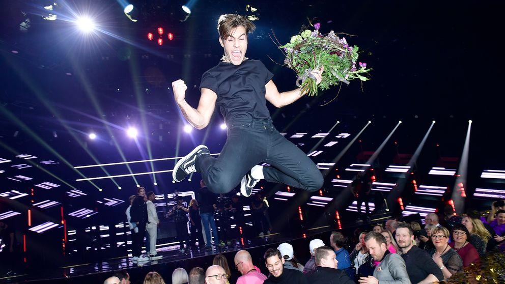 Benjamin Ingrosso vinner Melodifestivalen 2018.