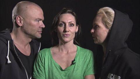 Andreas Lundstedt, Lina Hedlund och Tess Merkel i Alcazar.