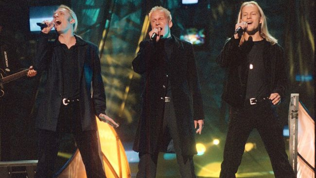 Gruppen Blond med Jonas Karlhager, Gabriel Forss och Patrik Lundström vann Melodifesitvalen 1997 med