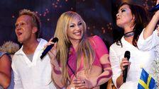 Charlotte Perrelli, då Nilsson, vinner Eurovision Song Contest 1999.