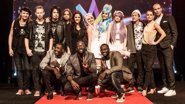 Artisterna i Melodifestivalens fjärde deltävling 2016.