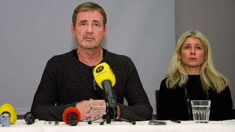 Melodifestivalens exekutiva producent Christer Björkman och Anette Helenius, projektledare Melodifestivalen 2016.