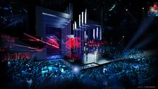 Scenen i Eurovision Song Contest 2016 i Stockholm Globen
