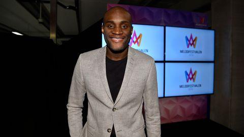 Boris René på efterfesten till Melodifestivalen 2016