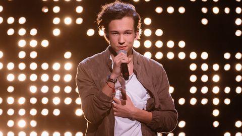 Bild på Frans Jeppson Wall från Melodifestivalen 2016.
