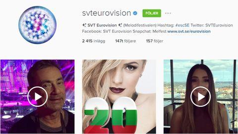 Bilder från SVT Eurovisions Instagramkonto