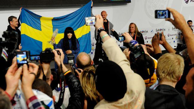 Bild på Loreen från Eurovision