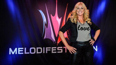 Jessica Andersson tävlar i Melodifestivalen 2015.