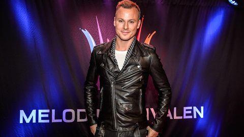 Magnus Carlsson tävlar i Melodifestivalen 2015.