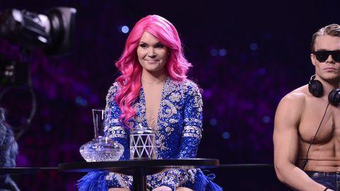 Bild på Dinah Nah efter deltävlingen