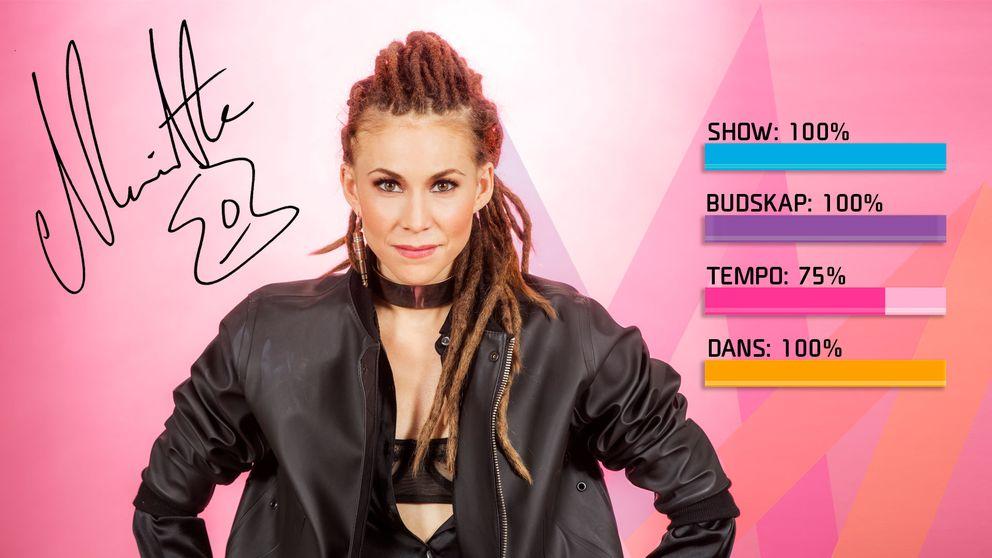 """Bild på Mariette som sjunger """"A Million Years"""" i Melodifestivalen2017."""