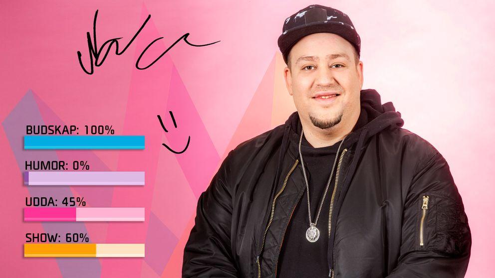 """Bild på Nano som sjunger """"Hold On"""" i Melodifestivalen2017."""