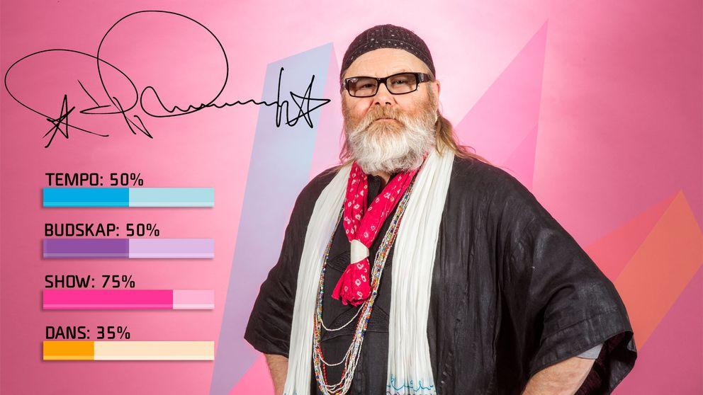 """Bild på Roger Pontare, som sjunger """"Himmel och hav"""" i Melodifestivalen2017."""