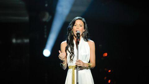 Sara Varga i Melodifestivalen 2011. Nu är hon tillbaka och tävlar med Juha Mulari och bidraget Du får inte ändra på mig i Melodifestivalen 2017 i deltävling fyra i Skellefteå.