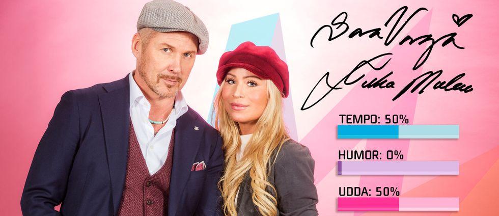 """Bild på Sara Varga och Juha Mulari sjunger """"Du får inte ändra på mig"""" i Melodifestivalen2017."""