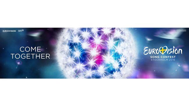 Banderoll med tema och logotyp för Eurovision Song Contest 2016.