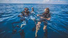 Joakim och Nicola efter ett lyckat dyk.