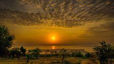Solnedgång i Akageraparken.