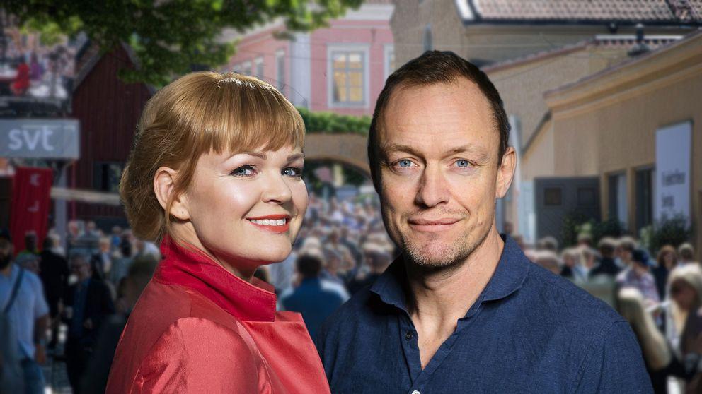 Belinda Olsson och Petter Ljunggren i Opinion Live från Almedalen