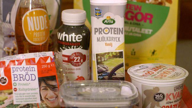 Proteinberikade produkter.