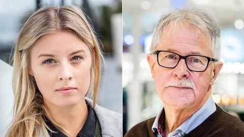 Sanne Olsson och Sverker Olofsson i närbild.