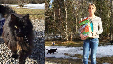 Gabrielle Rosendahl på Djurskyddet i Västerbotten.