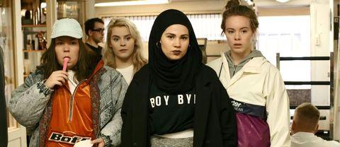 Chris, Vilde, Sana och Eva