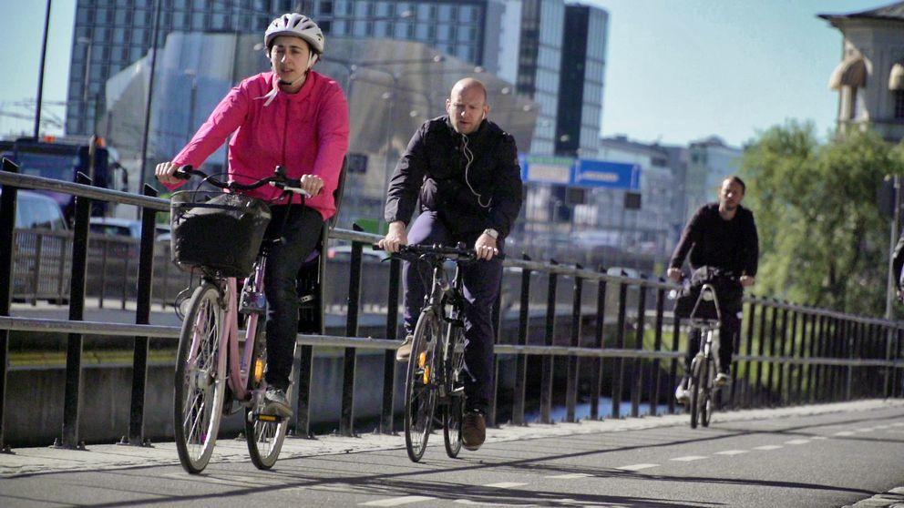 Cyklister i stadsmiljö