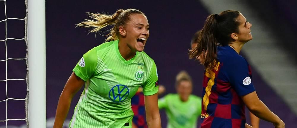 Fridolina Rolfö målskytt i CL-semifinalen mot Barcelona