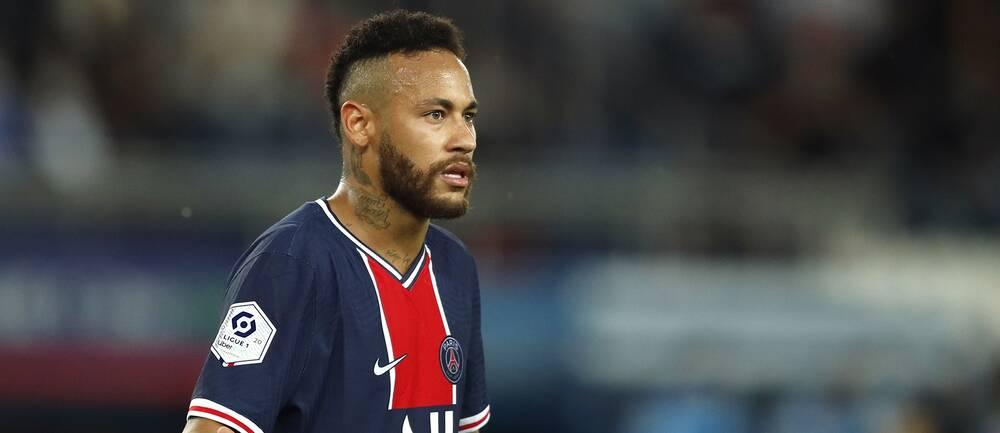 Neymar under skandalmötet med Marseille.