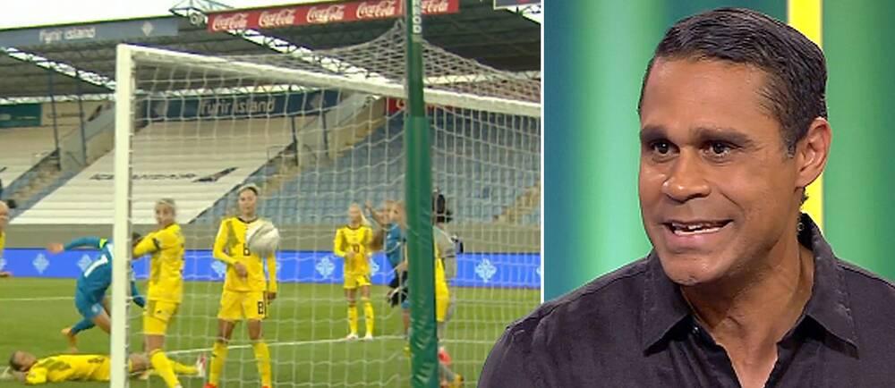 Daniel Nannskog menar att Sverige hade tur när Islands kvittering dömdes bort.