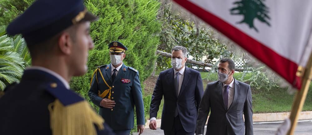 Libanons premiärminister Mustafa Adib