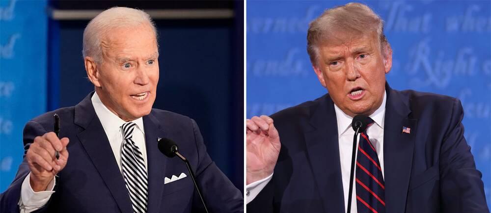 Joe Biden och Donald Trump.