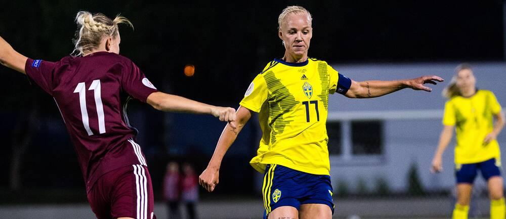 Sverige och Caroline Seger jagar EM-biljett