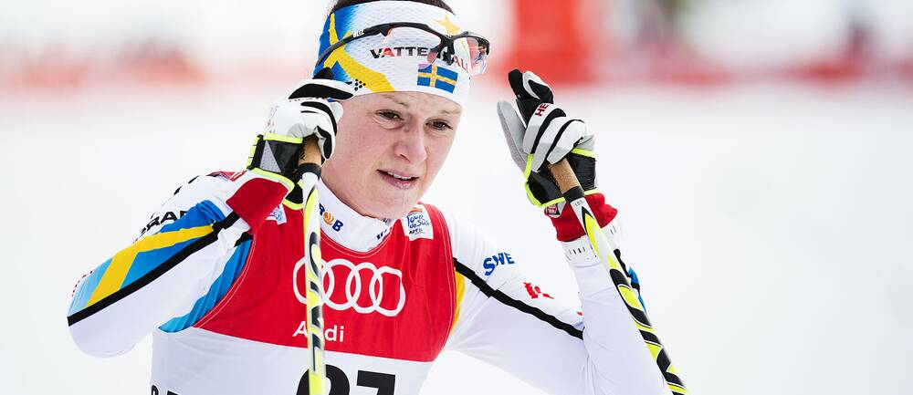 Helene Söderlund under Tour de Ski 2015.