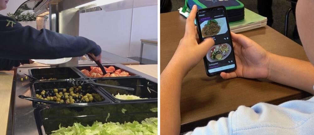 Skolelever i Karlstad använder en app för att bestämma själva vad de vill äta till lunch.